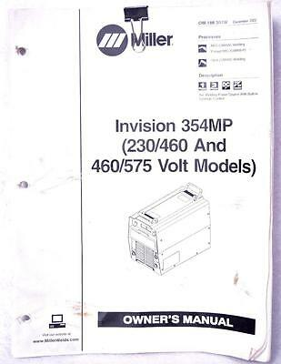 Miller Invision 354MP 230/460 & 460/575 Volt Owners Manual OM-188 304W Welding