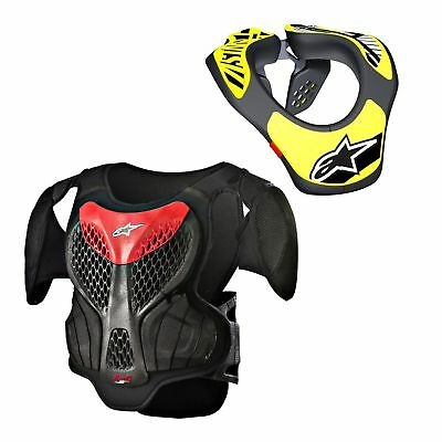 Alpinestars Neck Support Neckbrace Nackenschutz A-5S Brustpanzer Set S/m Kids