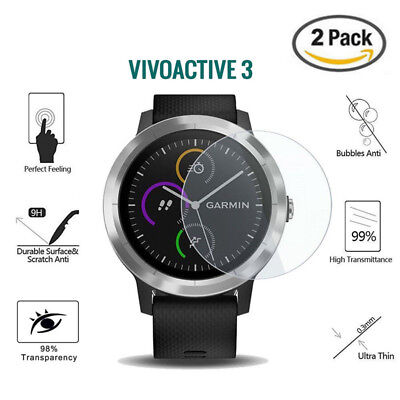 2PCS 9H Ultrathin Tempered Glass Screen Protector Film For Garmin Vivoactive 3