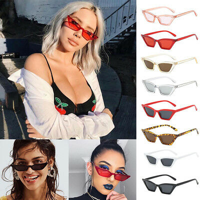 Vintage Small Cat Eye Sunglasses Outdoor Women Fashion Shades Eyeglasses Eyewear