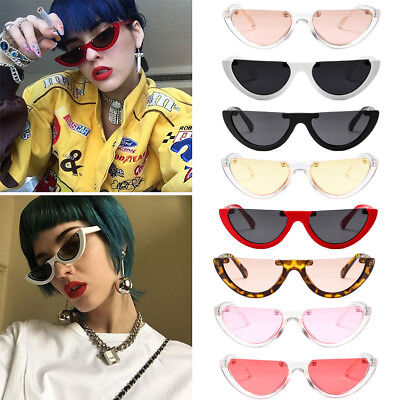 Women Vintage Half Frame Cat Eye Sunglasses Sexy Ladies Fashion Eyewear Retro Z