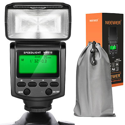 Neewer NW610 Manual Flash Speedlite With LCD Display for Canon Nikon Olympus