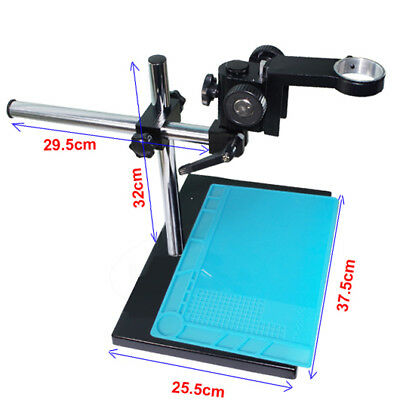 Industrial Microscope Stereo Table Stand +Heat Insulation Silicone Soldering Pad