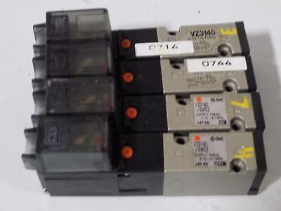 Smc Solenoid Valves Vz3140-5M0Z Lot Of 4