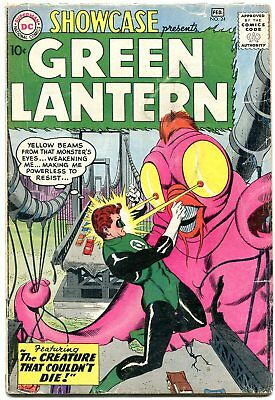 SHOWCASE COMICS #24 1960-3rd SILVER AGE GREEN LANTERN-GIL KANE ART VG-