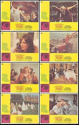 THE LOVES OF ISADORA orig lobby card set VANESSA REDGRAVE 11x14 movie posters