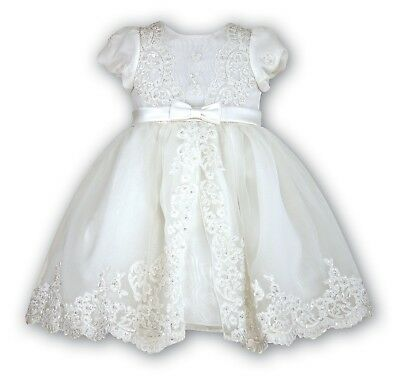 SARAH LOUISE Pink and IvoryPolka Dot Baby Girl Dress Style 010578  BNWT  SALE!!!