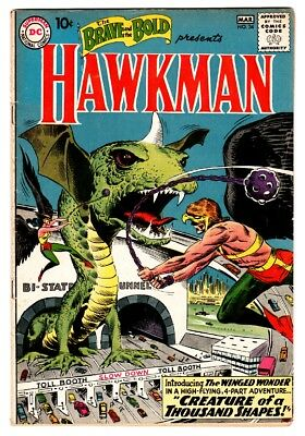 BRAVE AND THE BOLD #34 1st appearance of HAWKMAN / HAWKGIRL DC Comic book