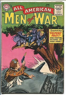 ALL AMERICAN MEN OF WAR #22-1955-WWII-DC-SILVER AGE-SNIPERS NEST-WWI STORIES-vg+