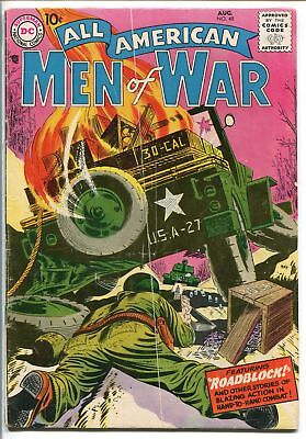 ALL-AMERICAN MEN OF WAR #48-1957-WWII-DC-SILVER AGE-BATTLE COVER-NICK-good/vg