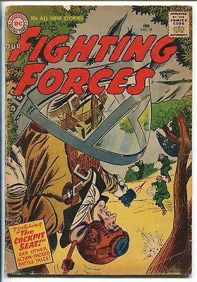 OUR FIGHTING FORCES #18-1957-DC-SILVER AGE-JOE KUBERT-RUSS HEATH-vg