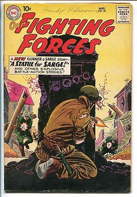 OUR FIGHTING FORCES #48-1959-DC-SILVER AGE-FROGMAN-GUNNER & SARGE-fn minus