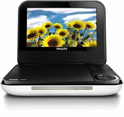 BRAND NEW Philips PD700/37 7-Inch LCD Portable DVD Player, White