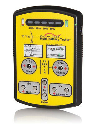 ZTS Mini 9RL Multi-Battery Tester for More than 10 Different Battery Types