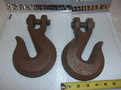 One Pair 3/4 Inch Chain Hooks Tempered Forged Free Shipping!