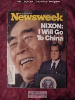 NEWSWEEK magazine July Jul 26 1971 7/71 NIXON will go to CHINA Hal Prince