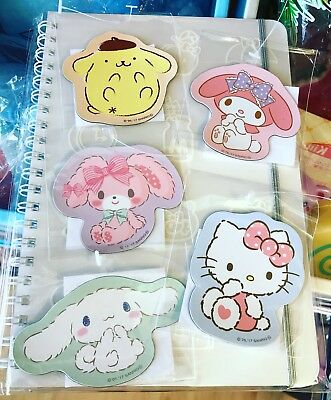 Sanrio Hello Kitty Characters Die-Cut 5pc Magnet Trinkets Complete Set