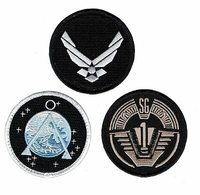 Stargate SG-1 Uniform/Costume Patch Set of 3 pcs 3 inch HOOK PATCH BY MILTACUSA