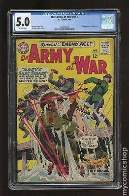 Our Army at War #153 1965 CGC 5.0 1243270004