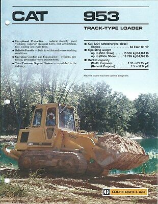 Equipment Brochure - Caterpillar - 953 - Track-type Loader - c1987 (E4238)
