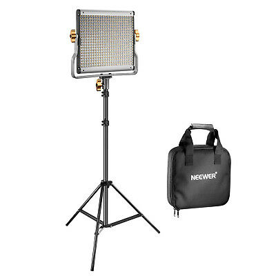 Neewer Photo Studio Dimmable Bi-color 480 LED Video Light and Stand Lighting Kit