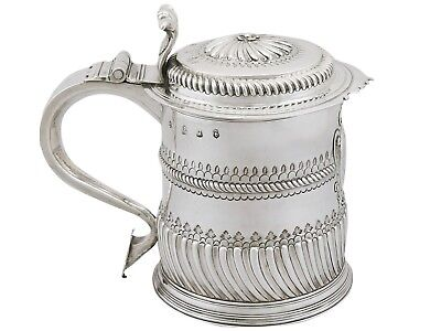 1697 William III Britannia Standard Silver Quart Tankard