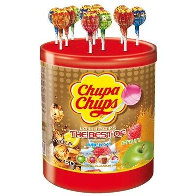 (11,03€/1kg) Chupa Chups The Best Of Lutscher, Lolly, 50 Stück