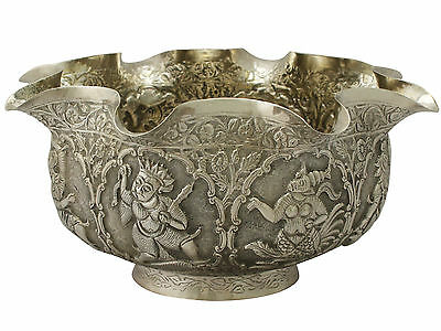 Burmese Silver Bowl - Antique Circa 1880