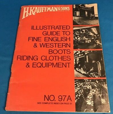 Vintage 1972 H. Kauffman & Sons Equestrian Saddle Illustrated Guide Catalog 97A