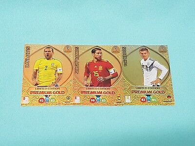 Panini Adrenalyn World Cup Russia 2018 WM  Set 5 - 3 x Limited Edition Gold