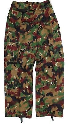 SWISS ARMY COMBAT TROUSERS in ALPENFLAGE CAMO GENUINE