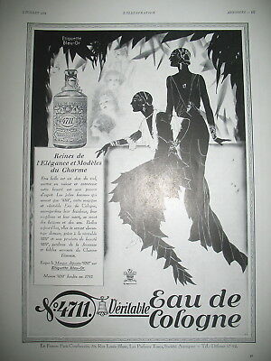 Publicite De Presse 4711 Eau De Cologne Illustration Lutz Erhenberger Ad 1931