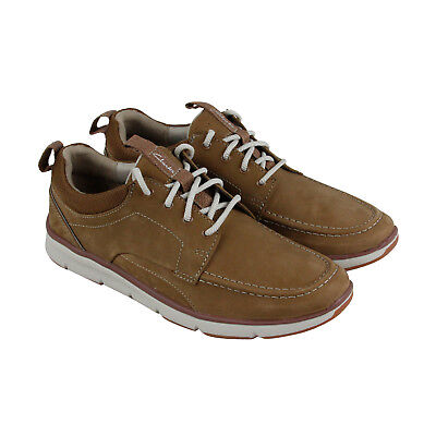 hot products save up to 80% look good shoes sale CLARKS ORSON BAY Mens Tan Nubuck Casual Dress Lace Up ...