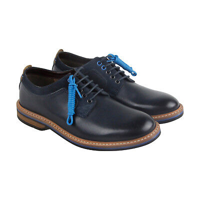 455d2ed37 Clarks Pitney Walk Mens Blue Leather Casual Dress Lace Up Oxfords Shoes