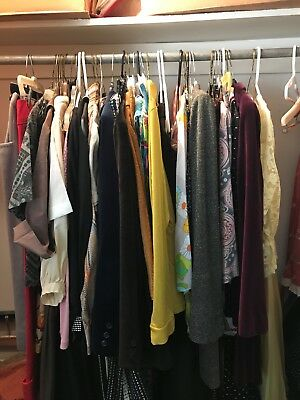 LOT of 45 VTG women's clothes 50's - 80's era AS IS