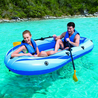 Bestway Inflatable Raft Boat Dingy Set HEAVY DUTY RX-4000 NEW IN BOX