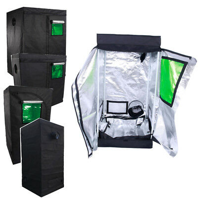 Hydroponic Indoor 600D Mylar Reflective Planting Grow Tent Room w/Green Window