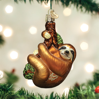 SLOTH Old World Christmas Blown Glass Ornament New With Tag