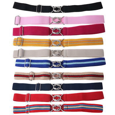 Children Girls Boys Wide Belt Alloy Belt Buckle Elastic Waistband Easy To Use