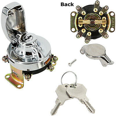 Ignition Switch 6 Terminal Chrome for 73-UP Harley Big Twin Motorcycle 71501-73