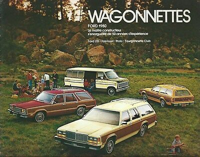 Auto Brochure - Ford - Wagonnettes Station Wagon 1980 - FRENCH language (A1314)