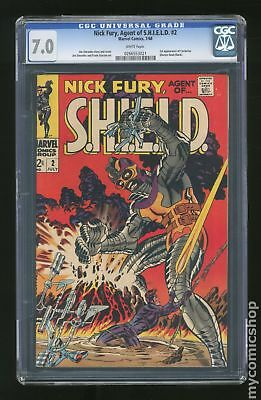 Nick Fury Agent of SHIELD (1st Series) #2 1968 CGC 7.0 0266553021