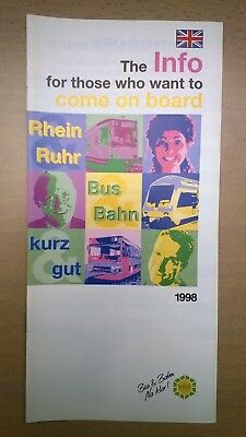Verkehrsverbund Rhein-Ruhr (VRR) - Info for those who want to come on board 1998