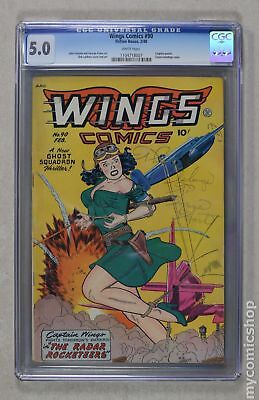 Wings Comics #90 1948 CGC 5.0 1104718007