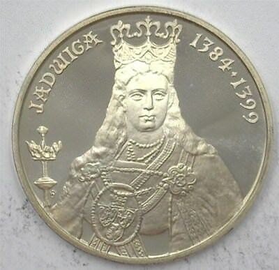 Poland 1988-Mw 500 Zlotych  Y#181 - Queen Jadwiga 1384-1399  Perfect Proof Dcam