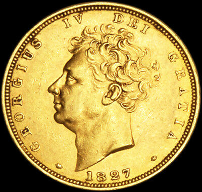 Excellent King George The Iv 1827 Gold Sovereign...