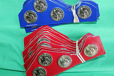Lot of Ten 2012 P and D Presidential 8 Coin Sets Uncirculated Blister Packs $1