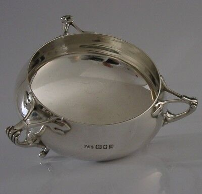 ART NOUVEAU SOLID STERLING SILVER BOWL ENGLISH ANTIQUE LONDON 1927 206g