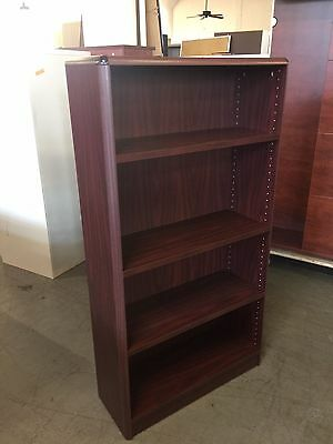 """32""""W x 12""""D x 60""""H Bookcase by Kimball Office furniture in Mahogany Laminate"""