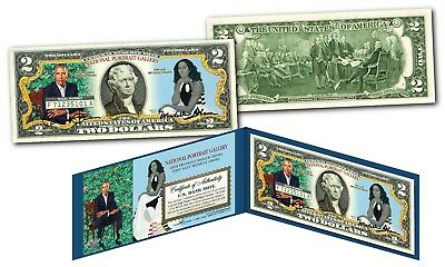 Barack & Michelle OBAMA Official NATIONAL PORTRAIT GALLERY Genuine U.S. $2 Bill